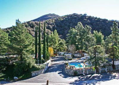 Camp Williams RV Resort is hidden away in the San Gabriel Mountains.